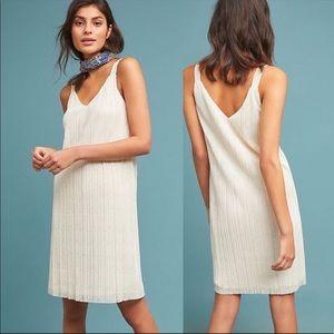 Meadow Rue Ivory Pleated Sheath Dress